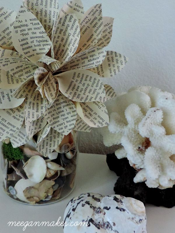 How To Make a Book Page Flower