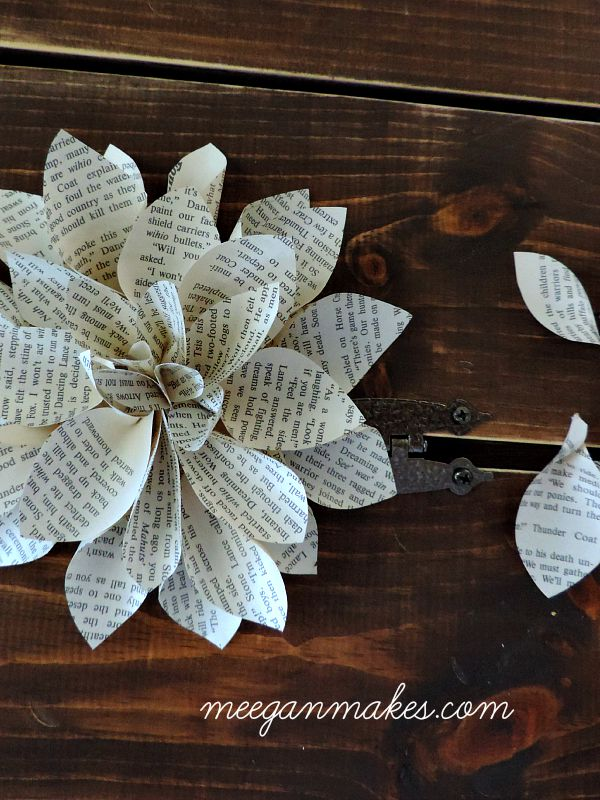 Large Book Page Flower