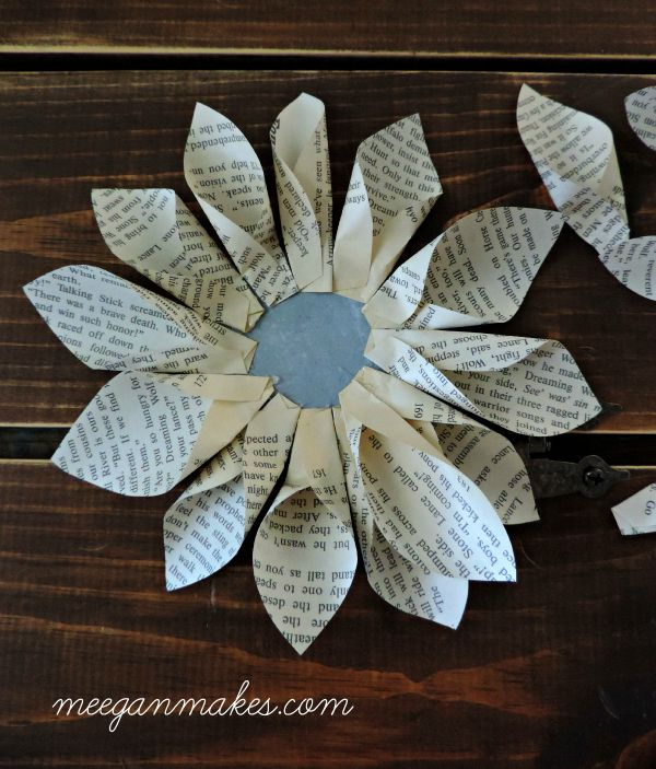 Large Petals for Book Page Flower