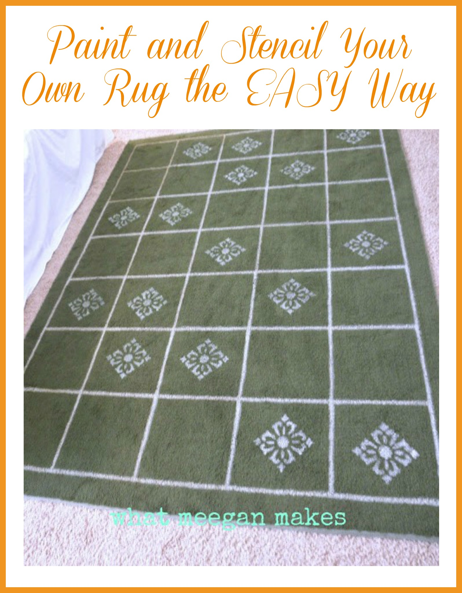 Paint and Stencil Your Own Rug The EASY Way