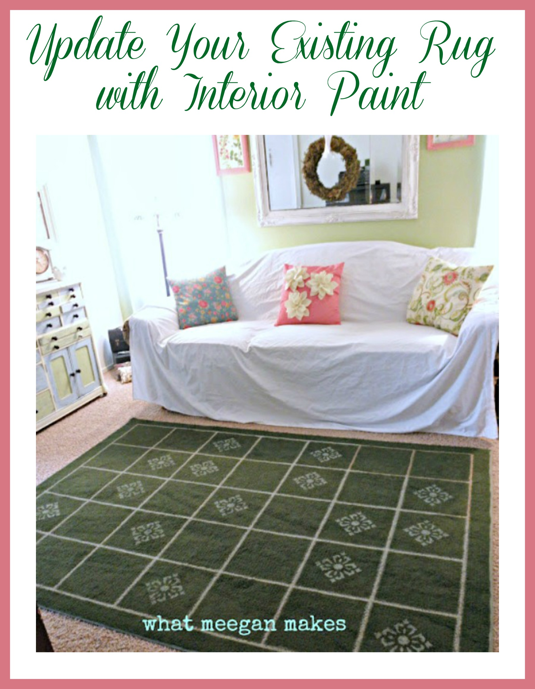 Update Your Existing Rug with Interior Paint