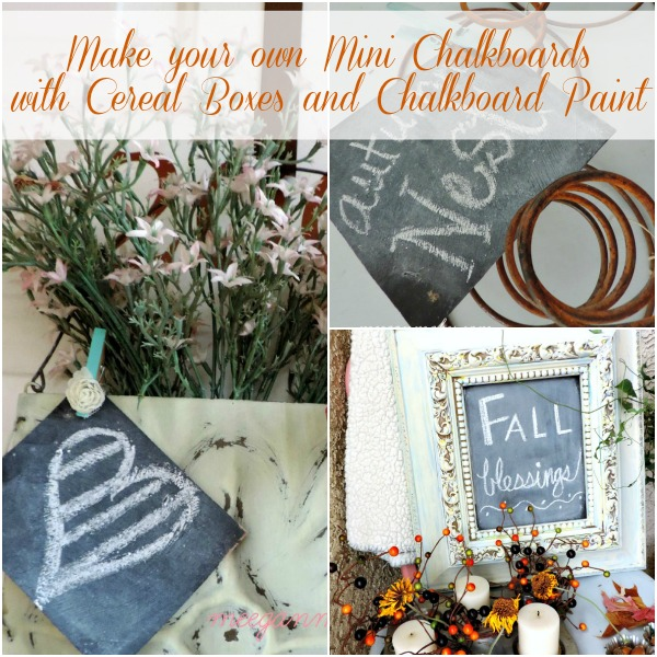 Make Your Own Min Chalkboards with Cereal Boxes and Chalkboard Paint