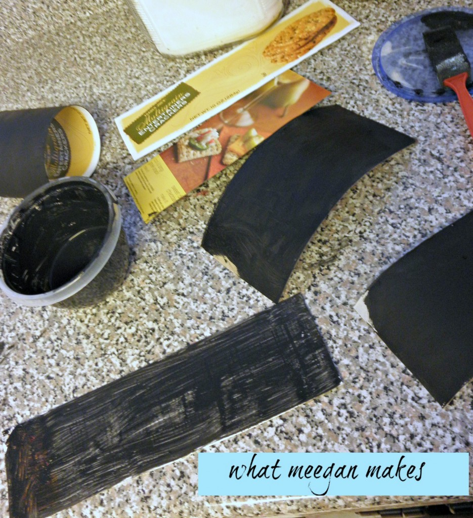 Make Your Own Chalkboards from Cardboard