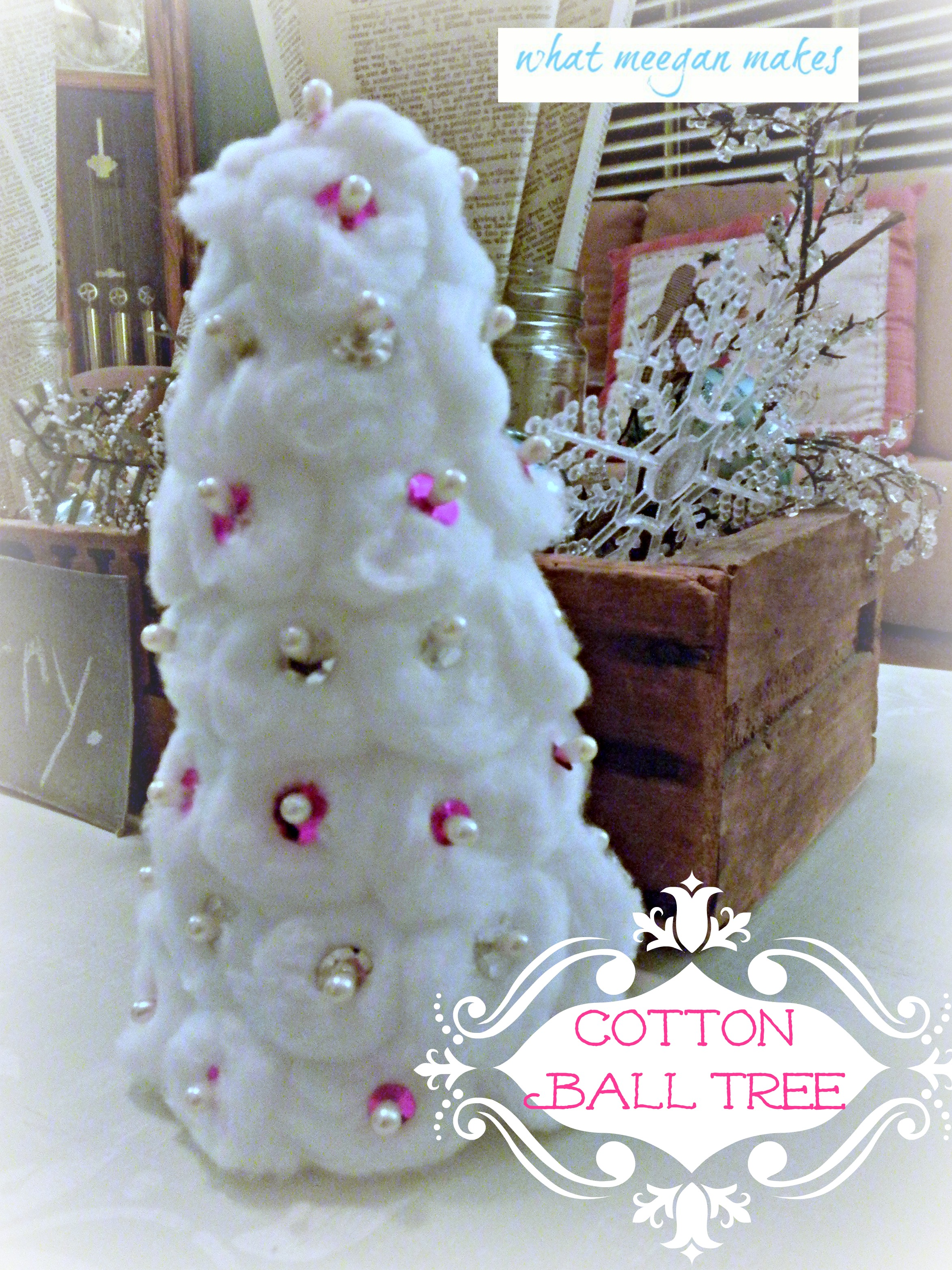 Cotton ball christmas trees - Cotton ballspractical ideas ...