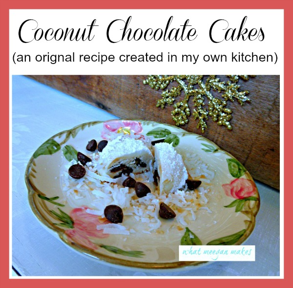 Coconut Chocolate Cakes by meeganmakes.com