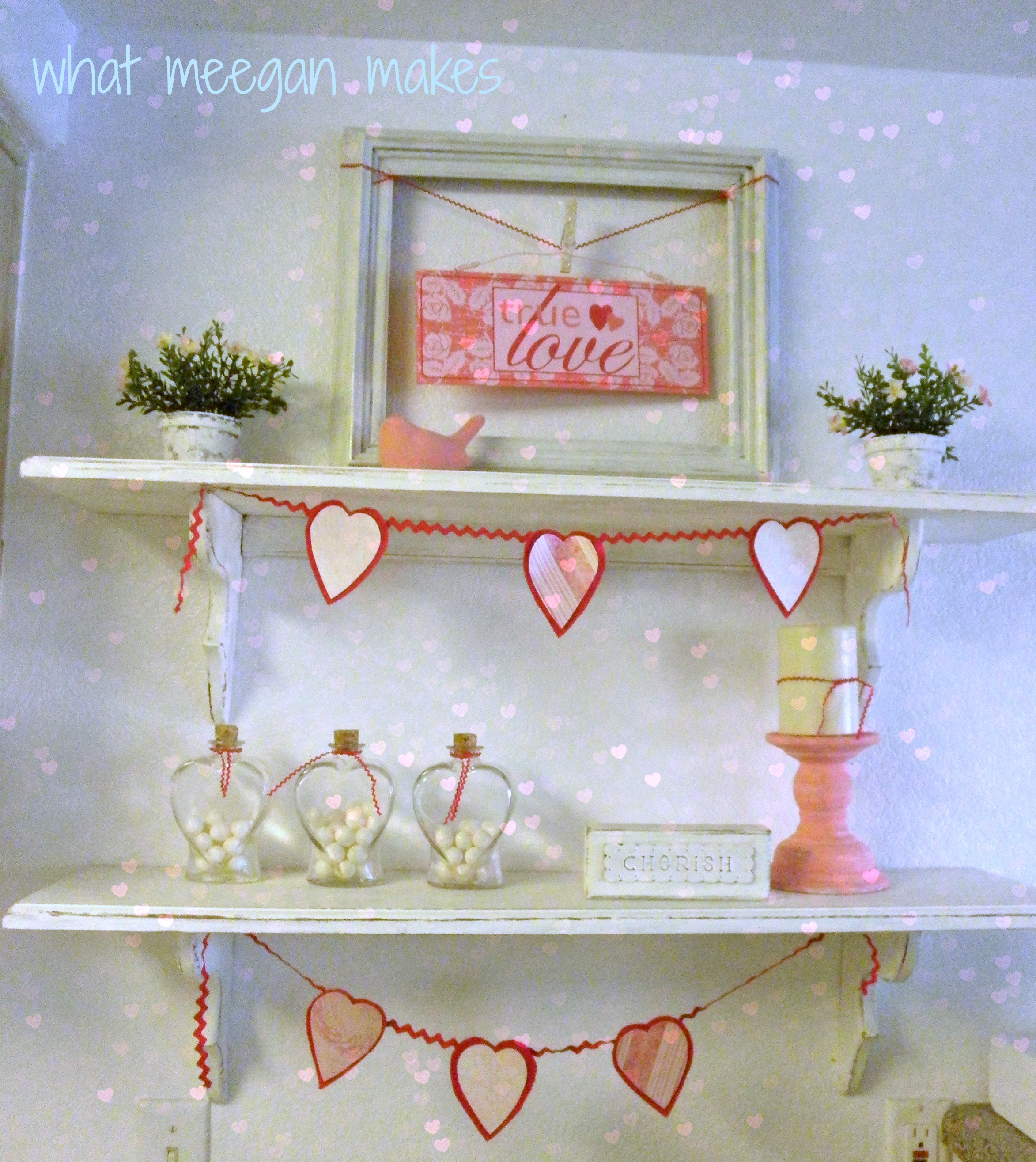 My Valentine Shelves