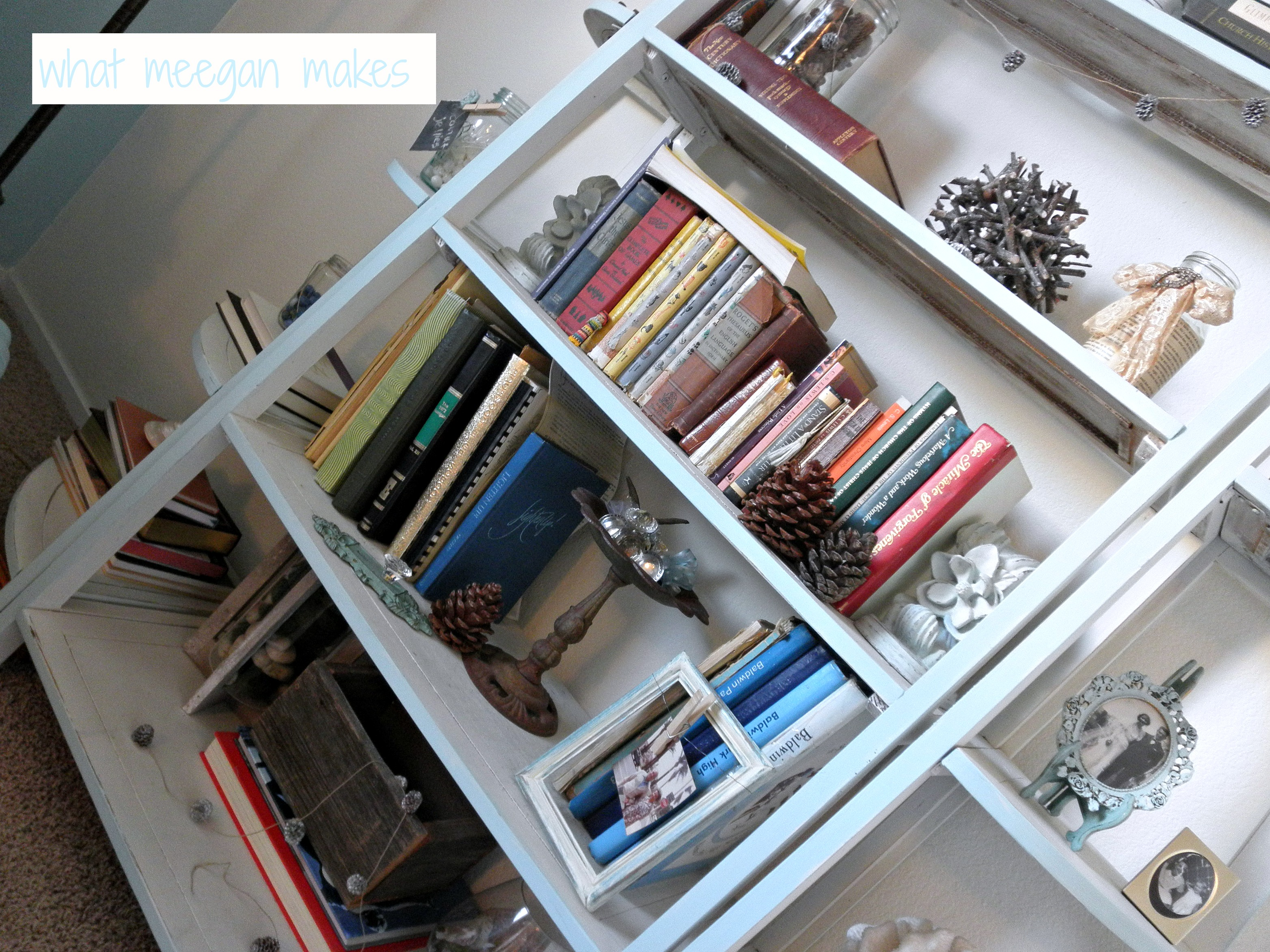 My Winter Book Shelves