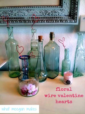 floral wire valentine hearts