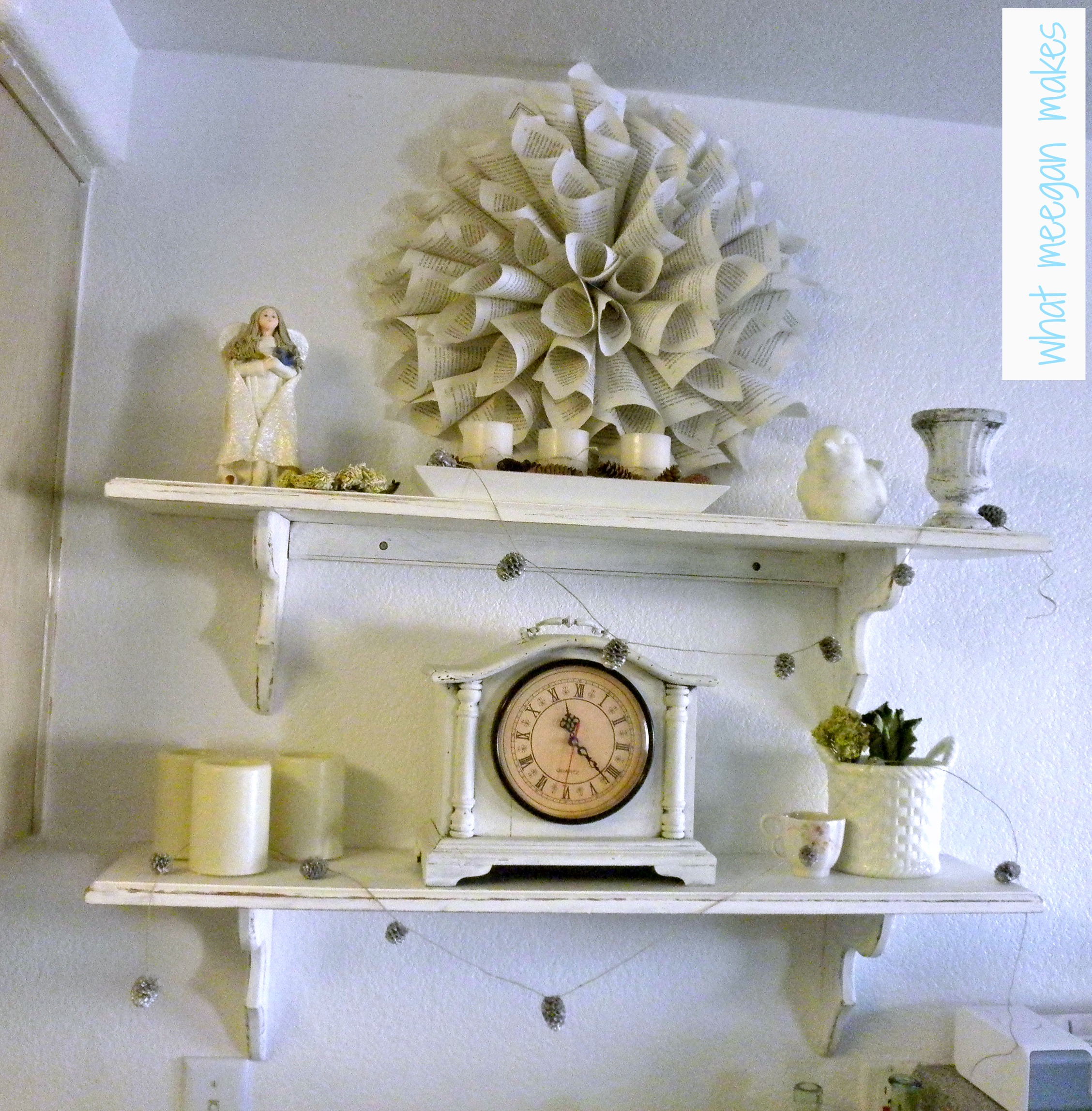 My Winter White Shelves