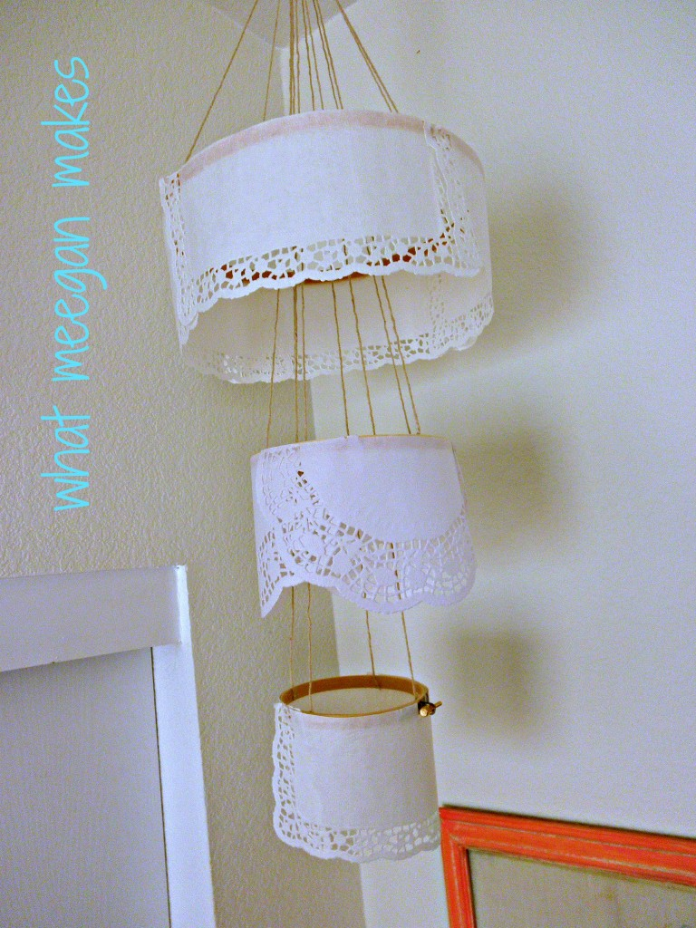 My Paper Doily Chandelier