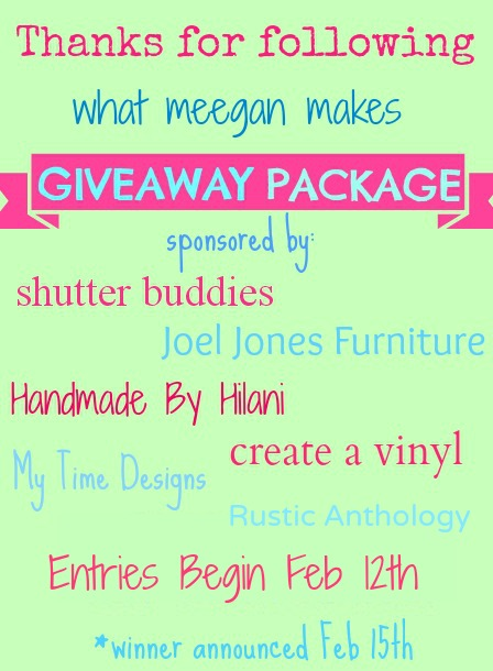 Thanks for Following What Meegan Makes Giveaway Package