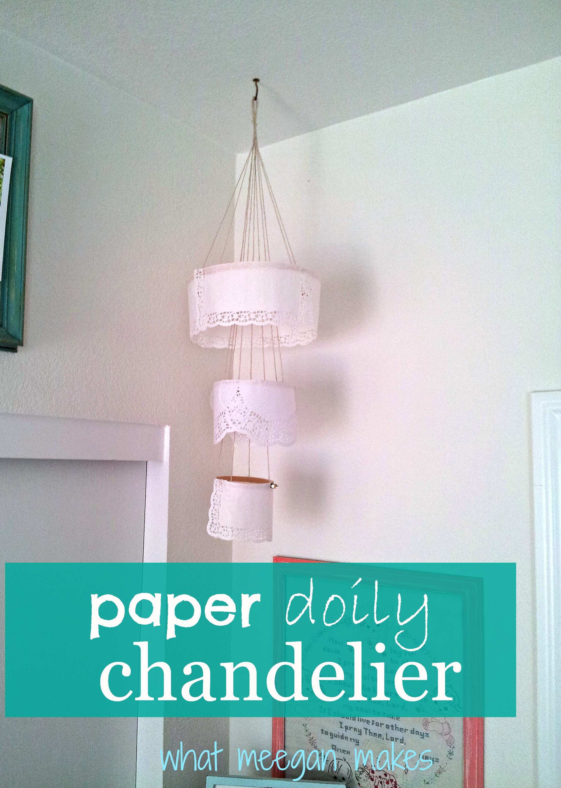 My paper doily chandelier arubaitofo Images