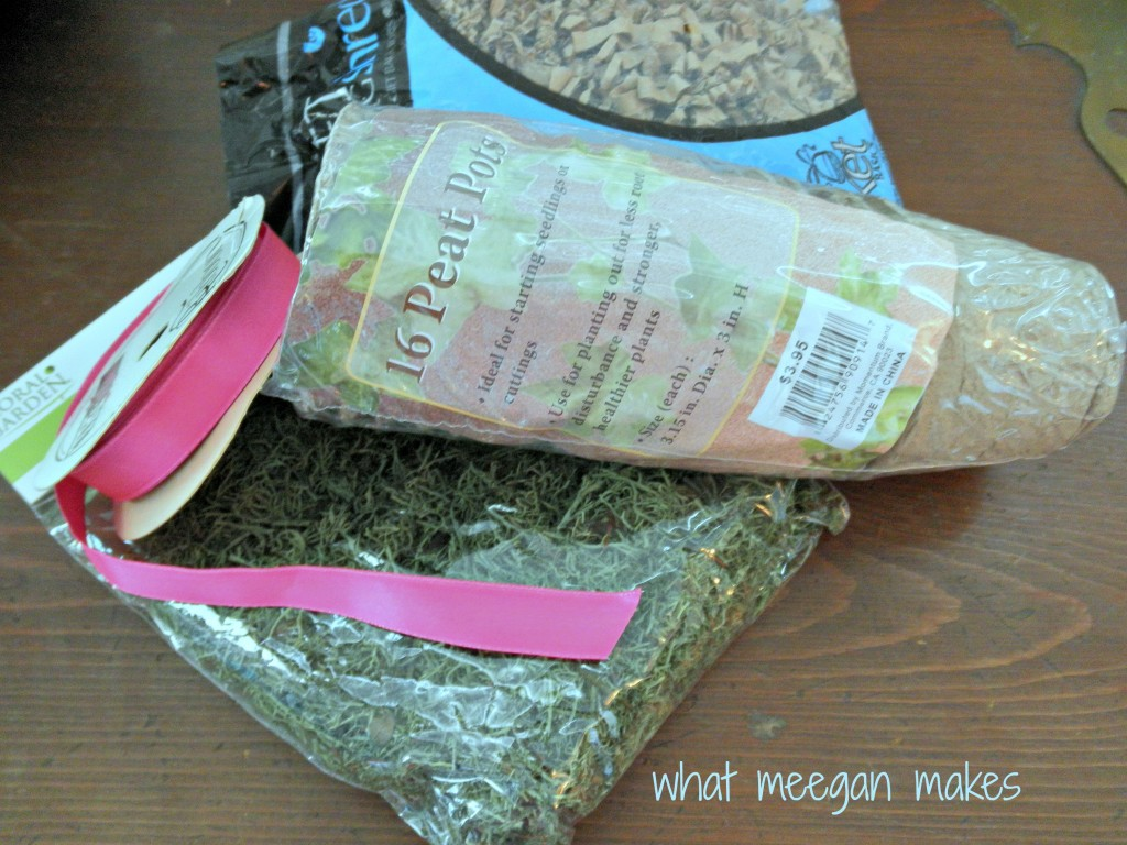 DIY Moss Easter Basket