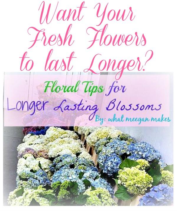Floral Tips for longer Lasting Blossoms