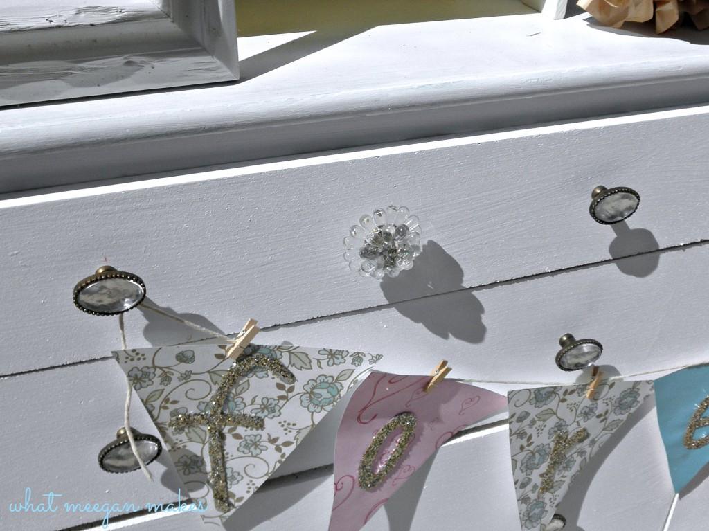 Dumpster Dive Dresser Turned Wedding Shower Beauty