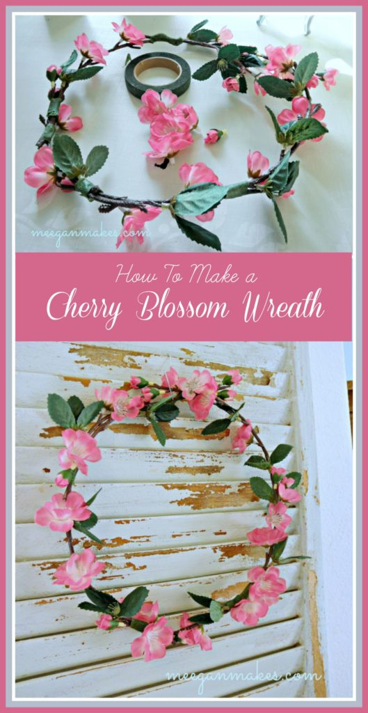 How To Make a Cherry Blossom Wreath The EASY Way