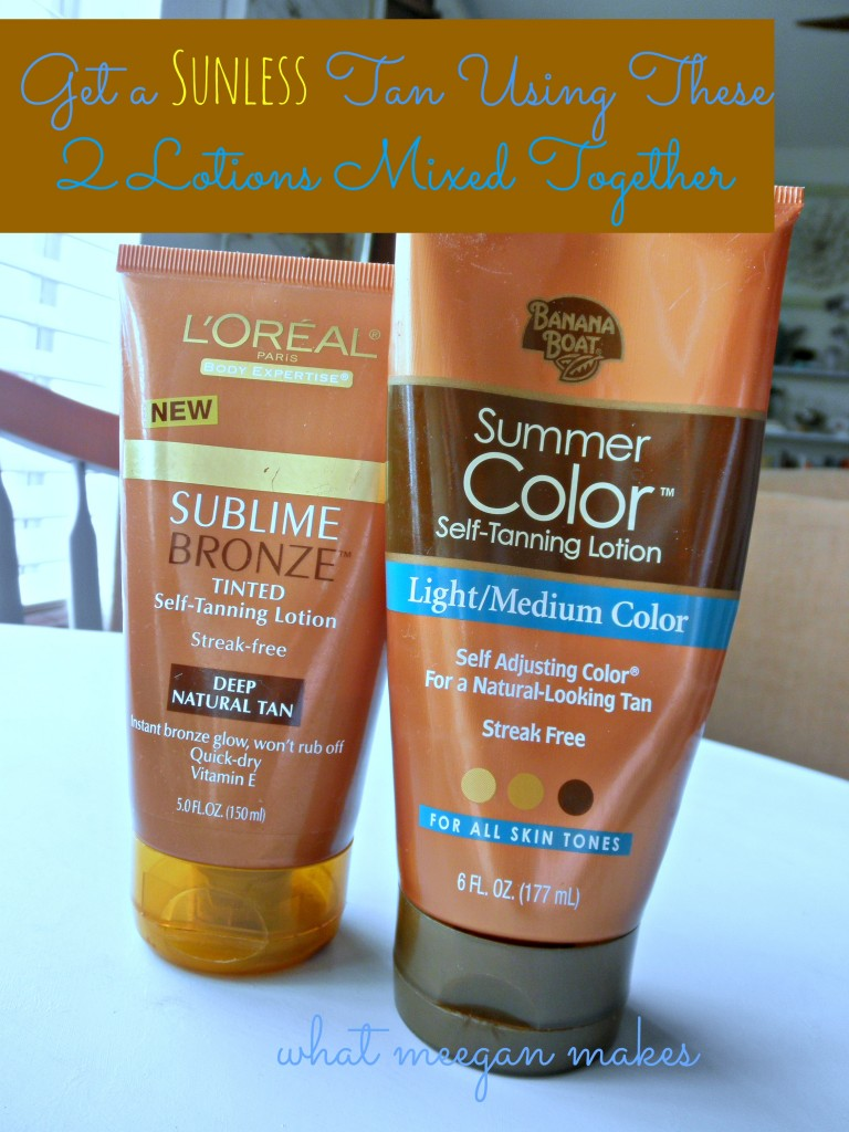 Sunless Tan Using Two Lotions Together