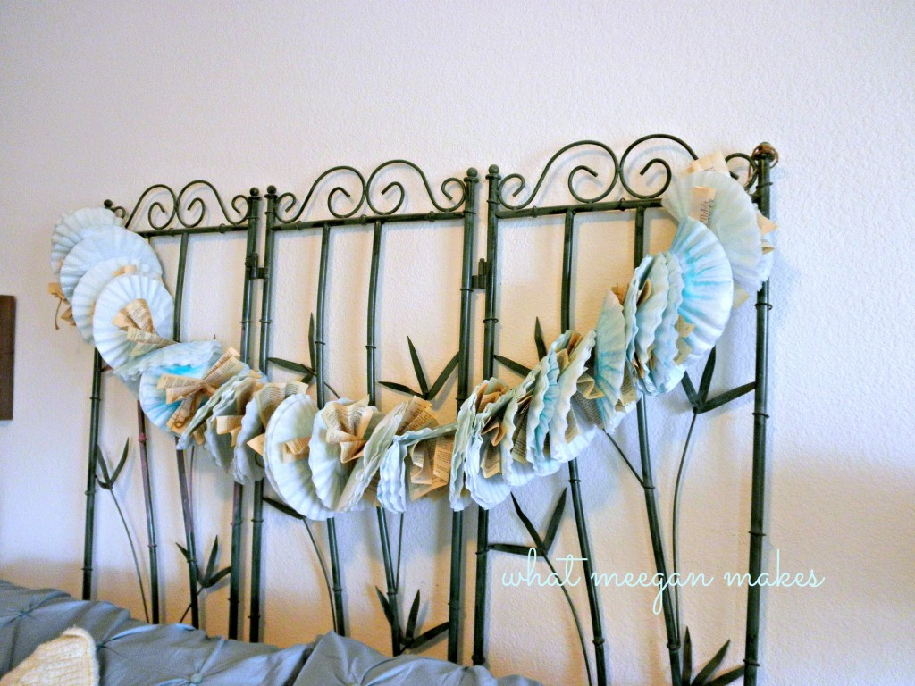 Coffee Filter and Book Page Garland
