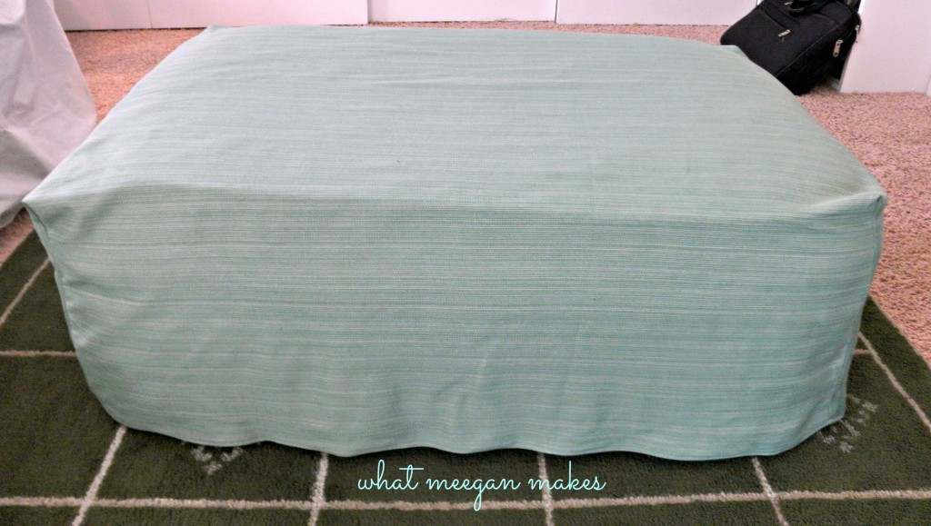 Easy One Piece Ottoman Slip Cover