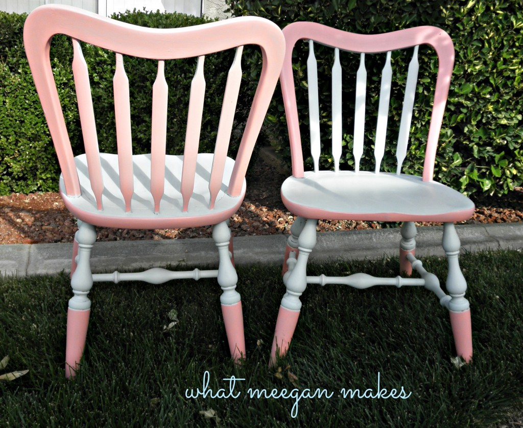 Thrifted and Painted Chairs Progress So Far