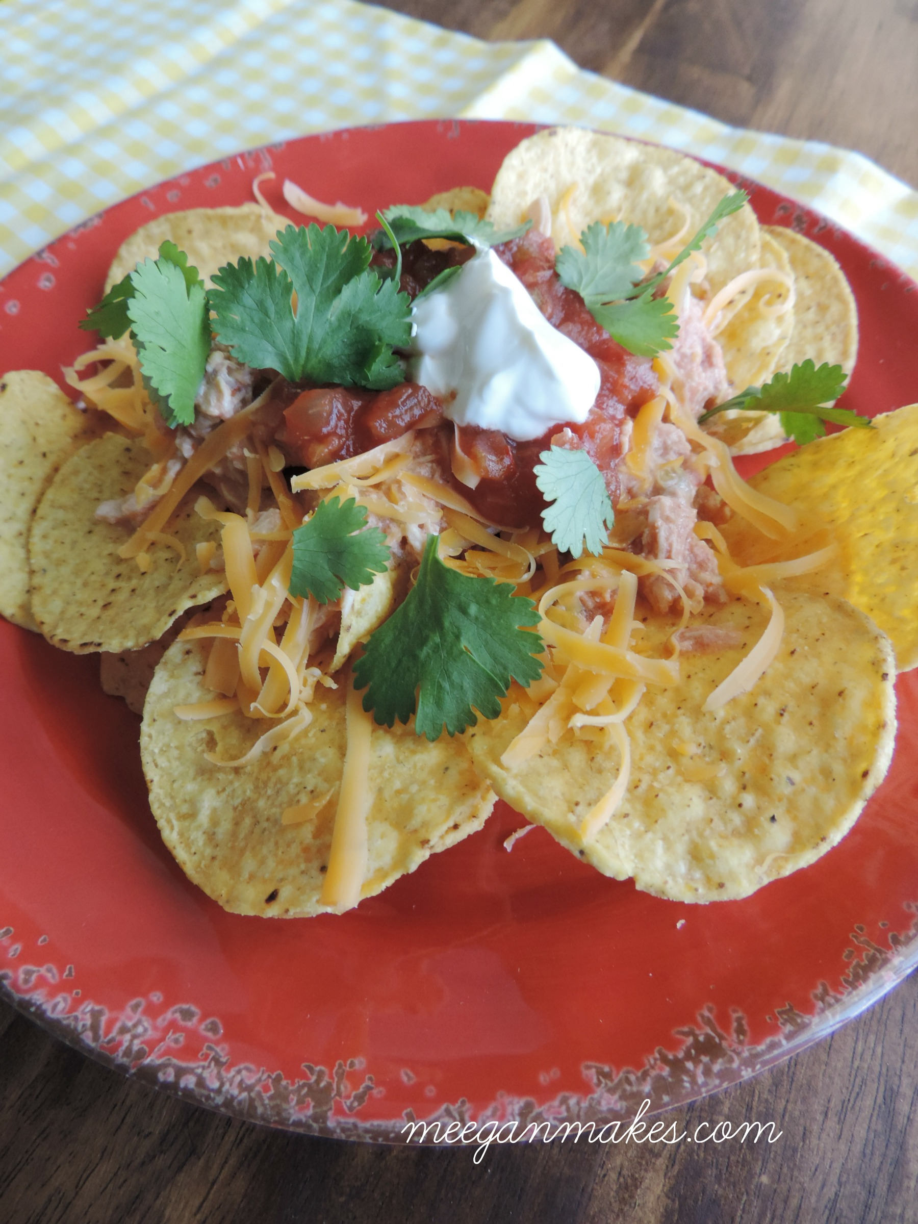 Crock Pot Chicken Nachos