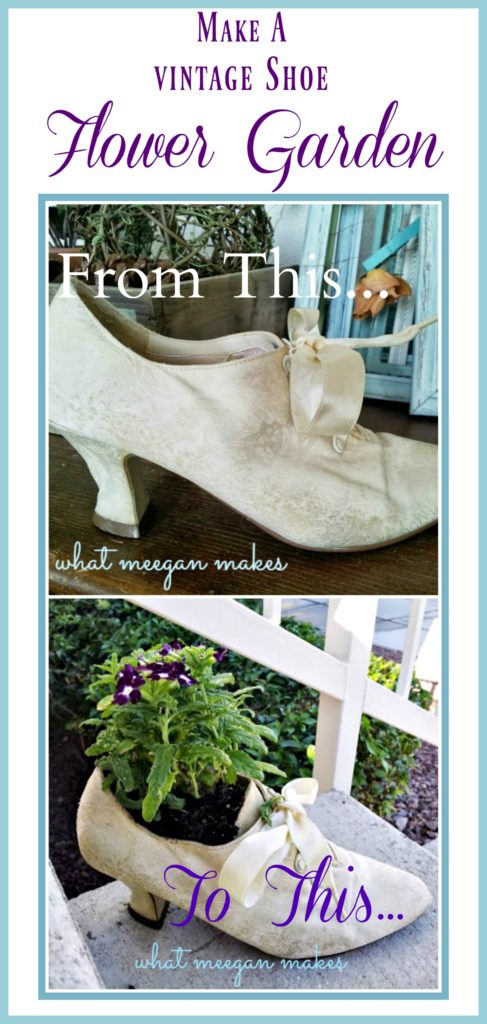 Make a Vintage Shoe Flower Garden