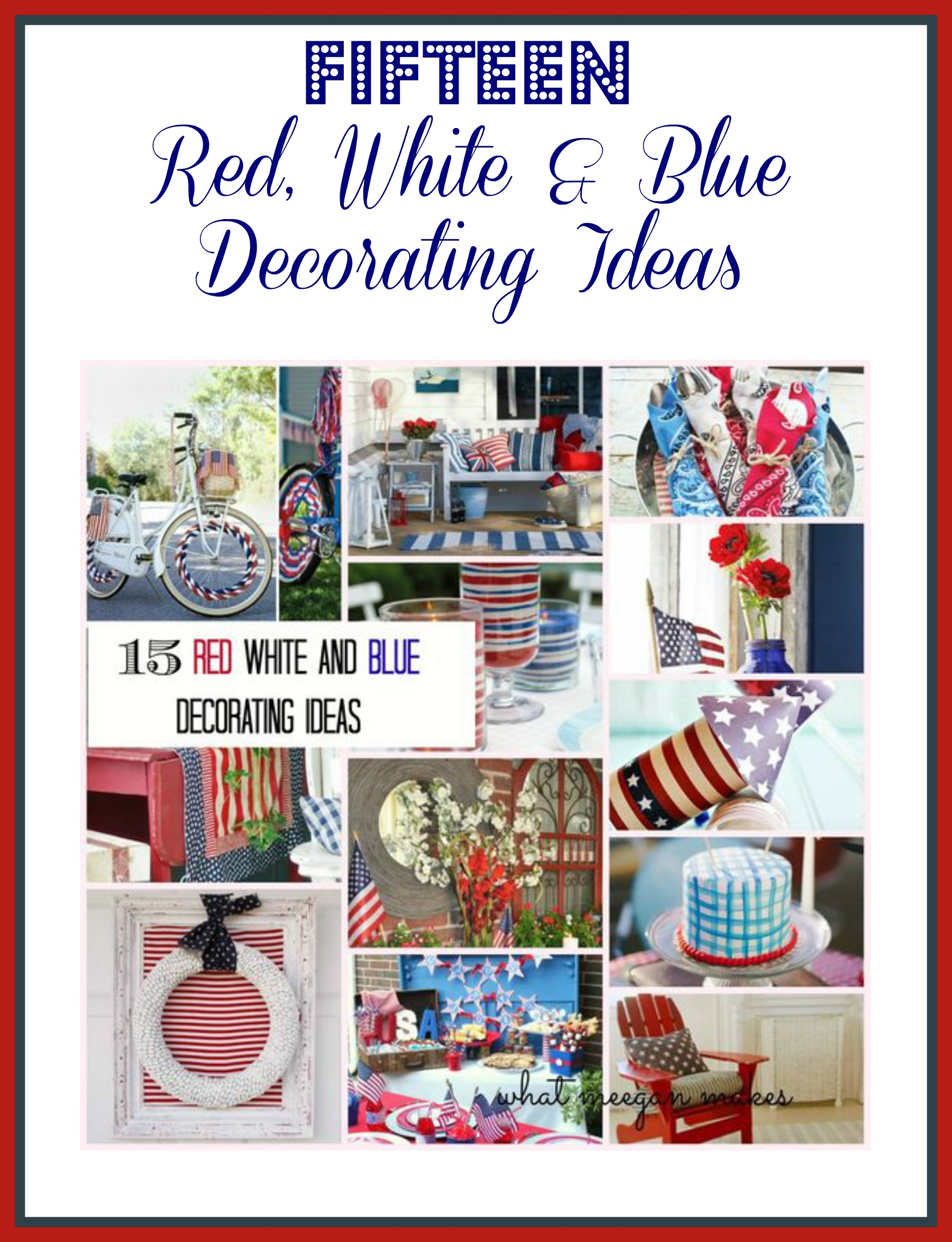 red white and blue decorating ideas my web value
