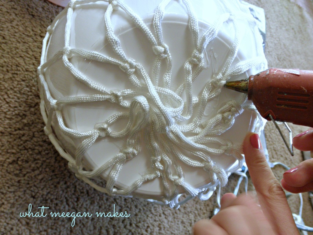 DIY Pottery Barn Knock Off Net Ceramic Vase