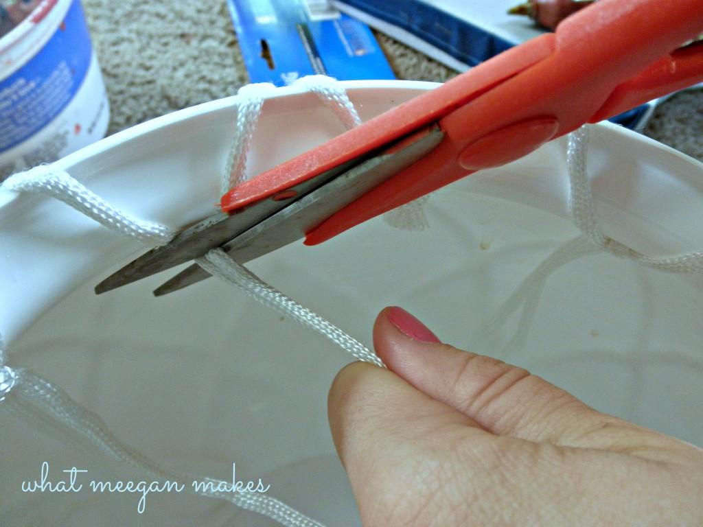 DIY Pottery Barn Knock Off Net Ceramic Vase