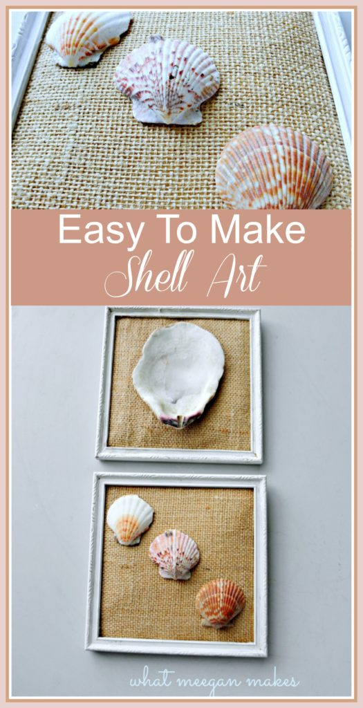 DIY Shell Art by meeganmakes.com