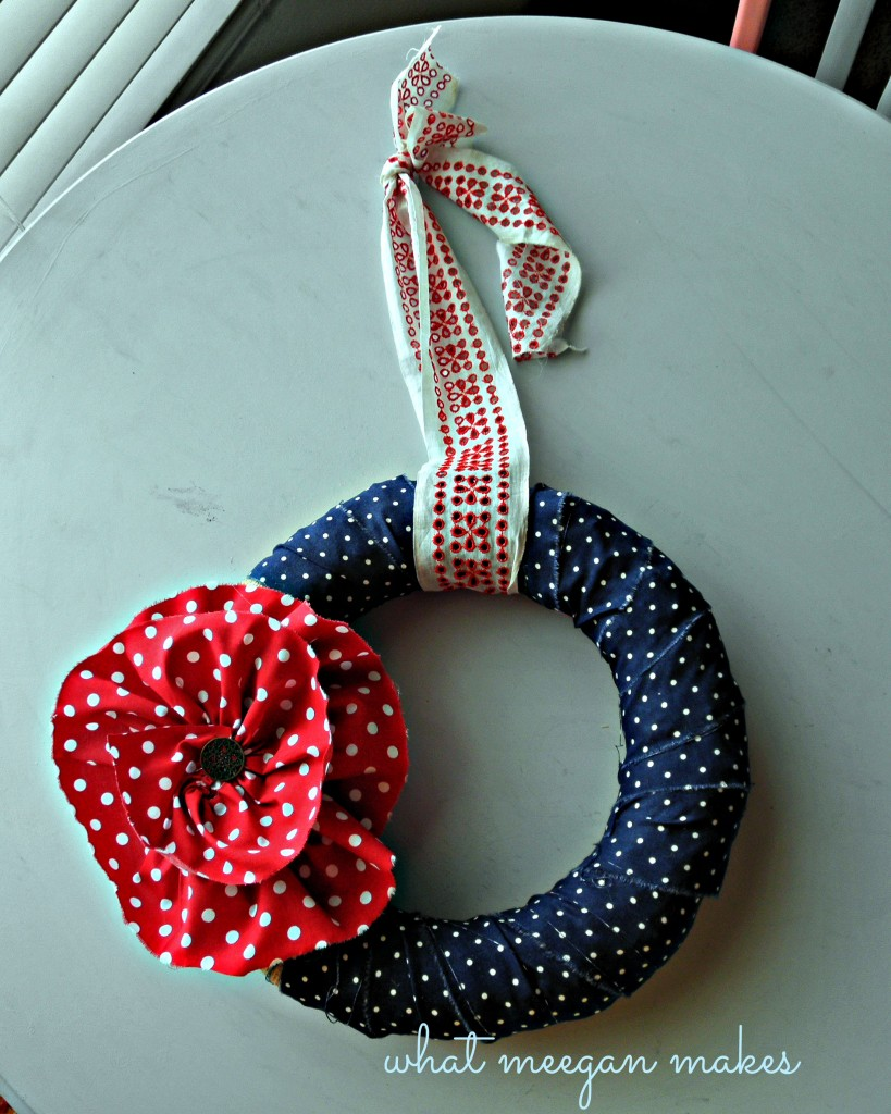 My Fourth of July Wreath