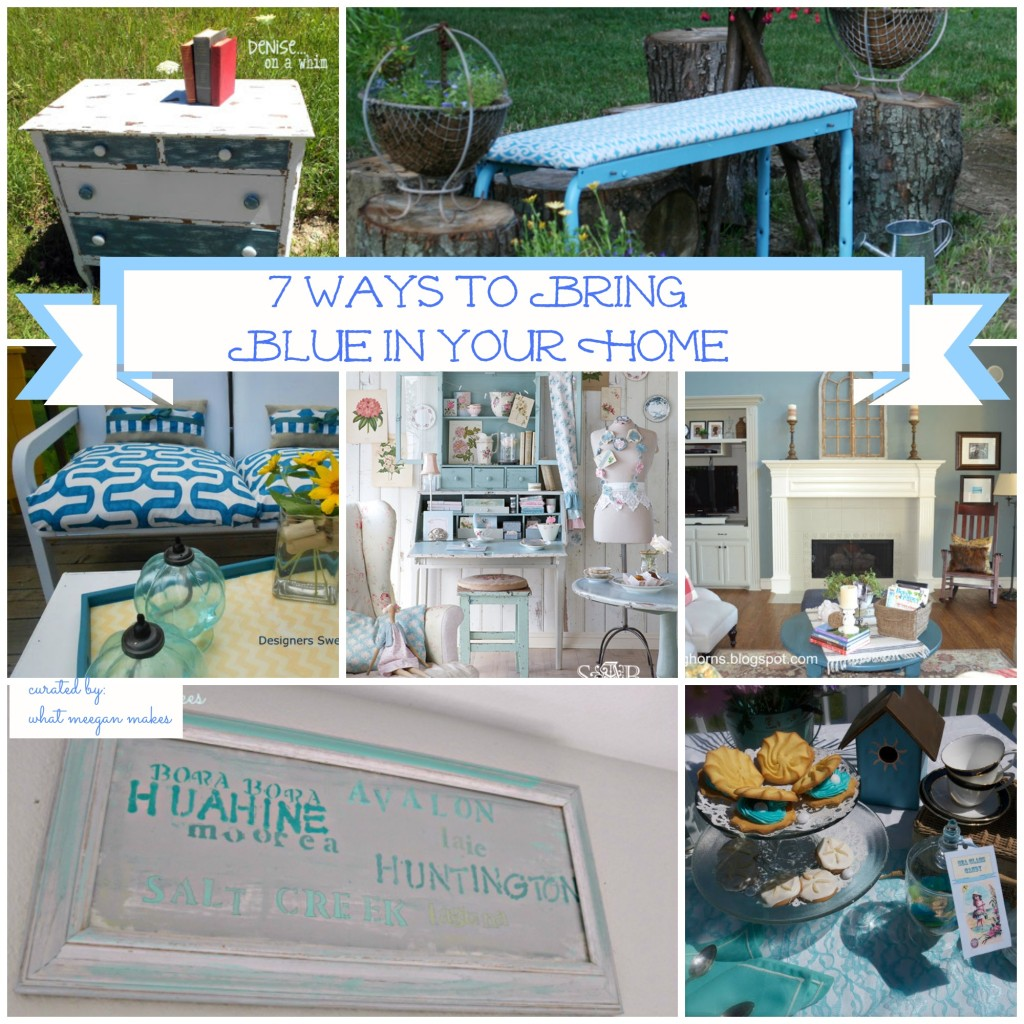 I've Got The Monday Blues with 7 Ways to Bring Blue In Your Home