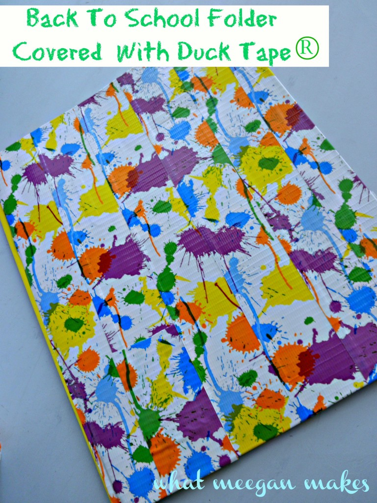 Back To School Folder Covered With Duck Tape®