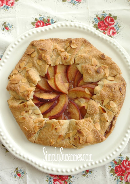 peach and almond galette 28