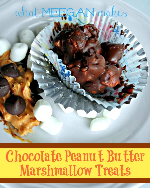 Chocolate Peanut Butter Marshmallow Treats