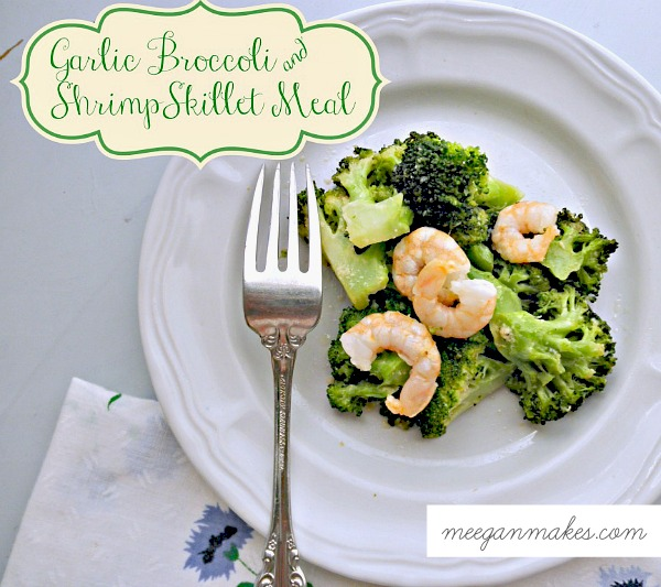 Garlic Broccoli and Shrimp Skillet Meal