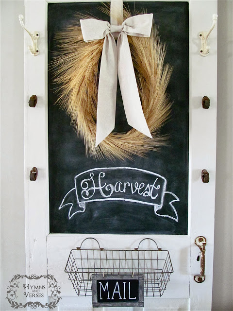 Harvest Wheat Wreath Chalkboard