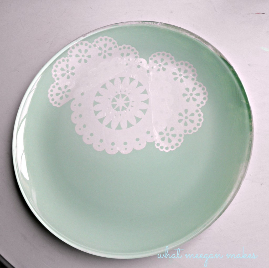Martha Stewart Washable Decoupaged & Painted Plate