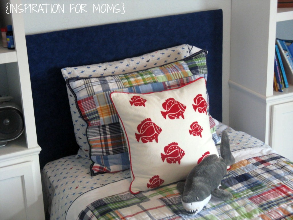 custom headboard tutorial finished headboard