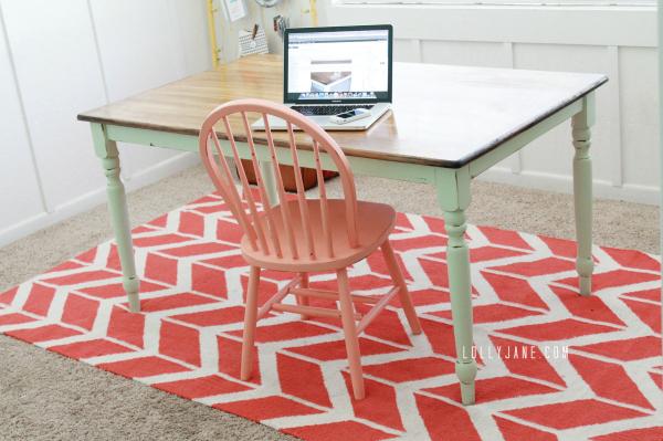 DIY-mint-farmhouse-table