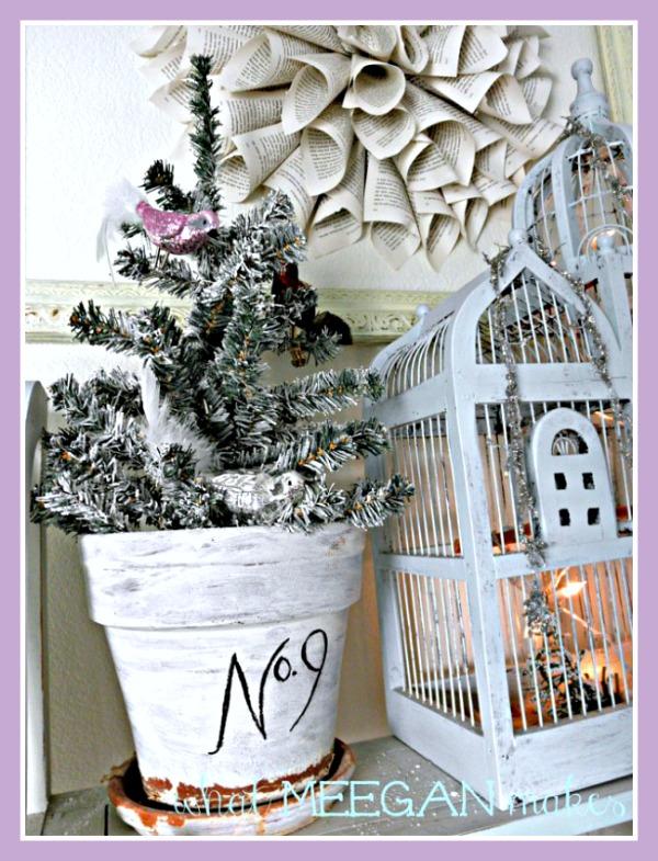 DIY Flocked Christmas Tree by meeganmakes.com