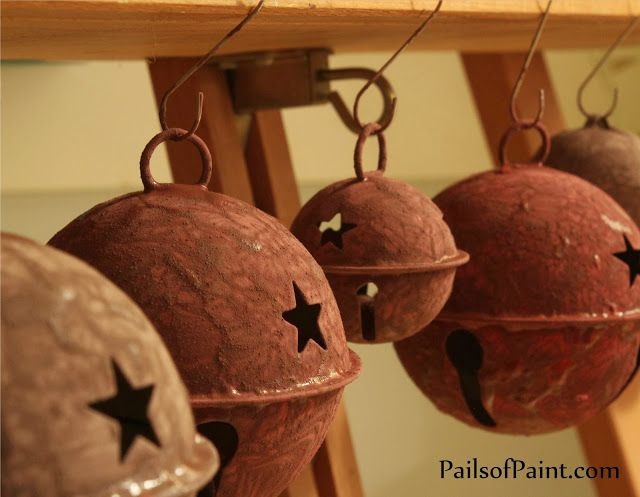 How To Make Rusty Christmas Bells without the rust