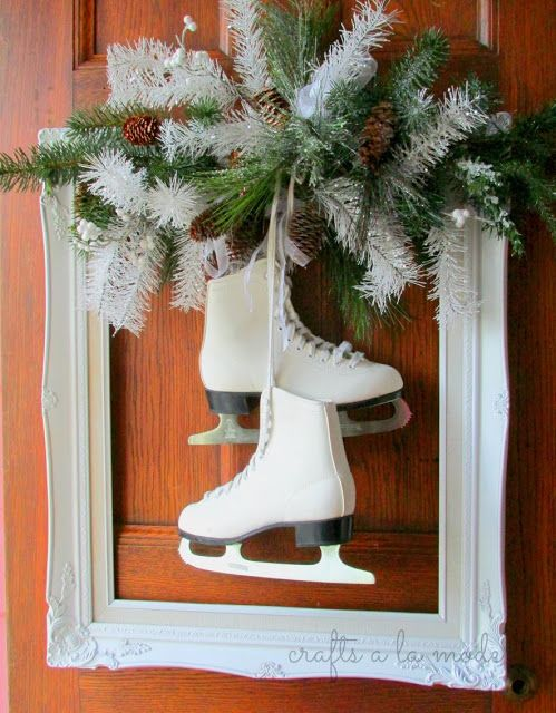 Winter Wreath With Ice Skates