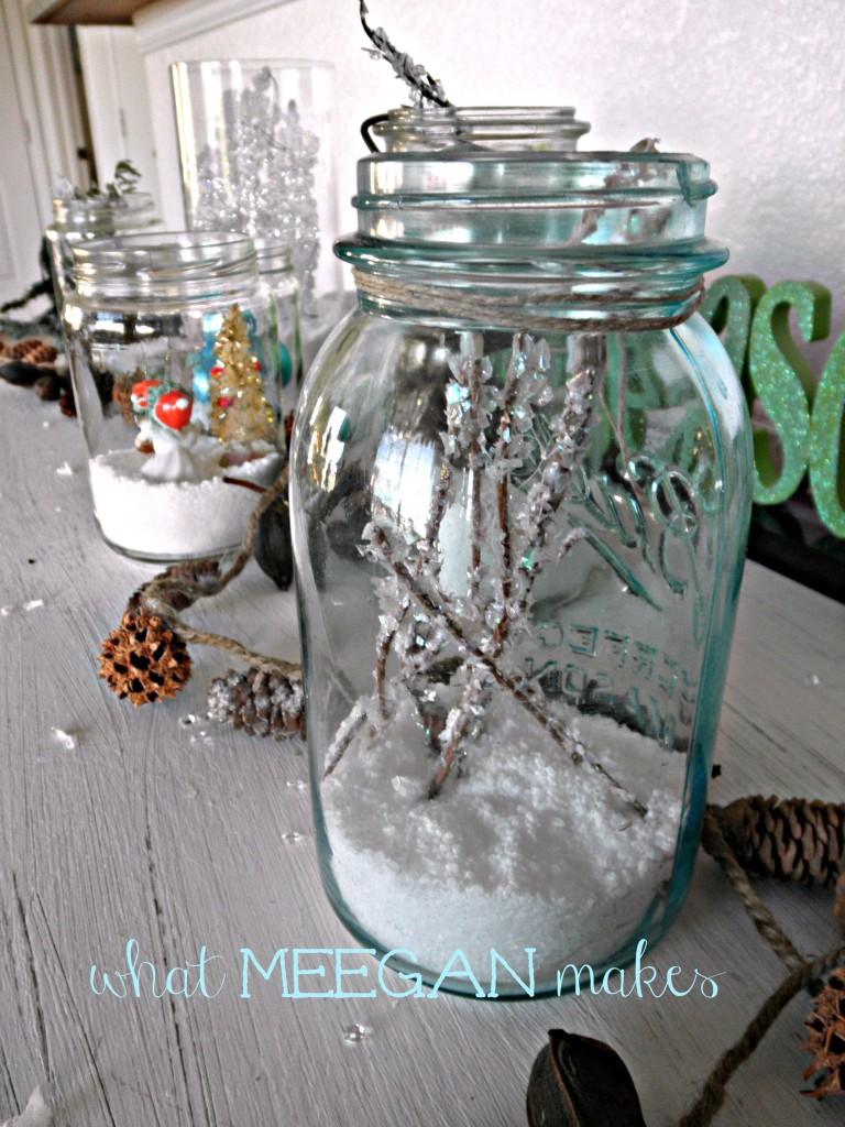 Epsom Salt Christmas Jar Display