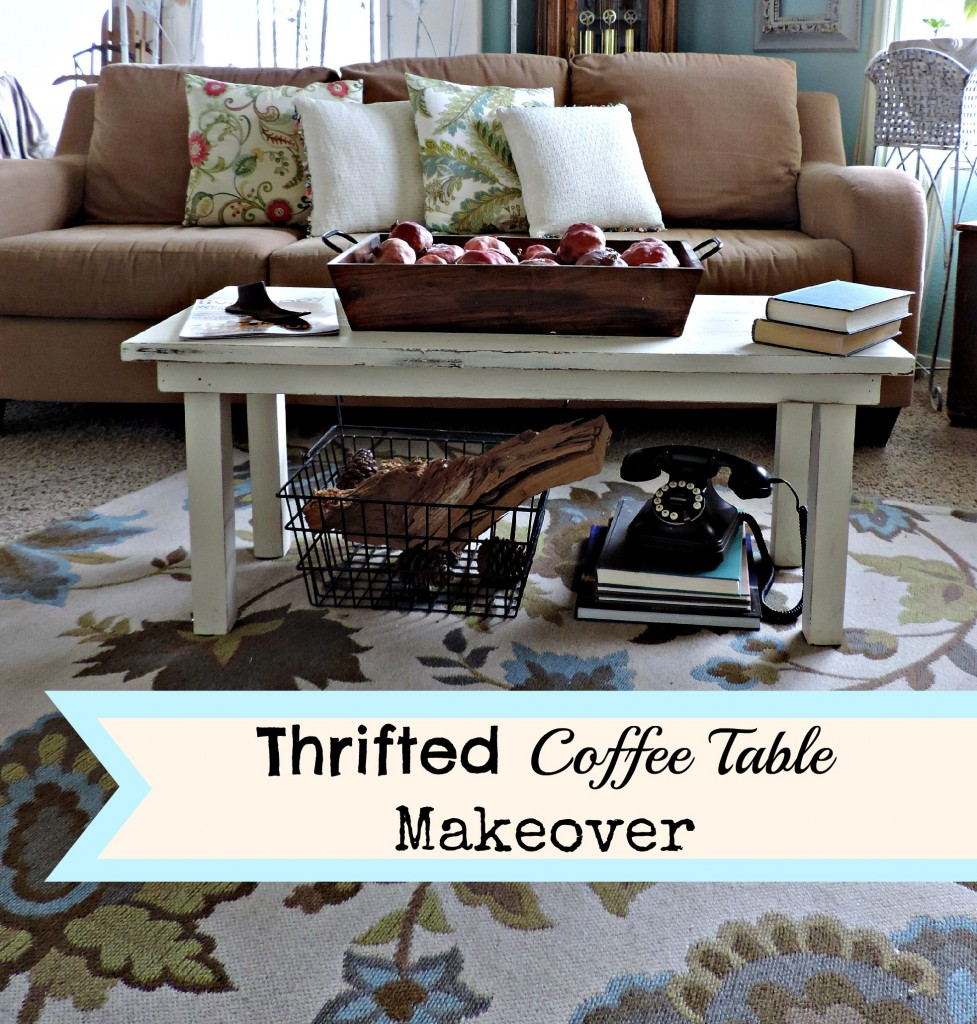 thrifted coffee table makeover what meegan makes