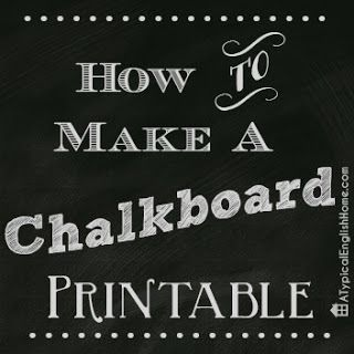 How To Make A Chalkboard Printable