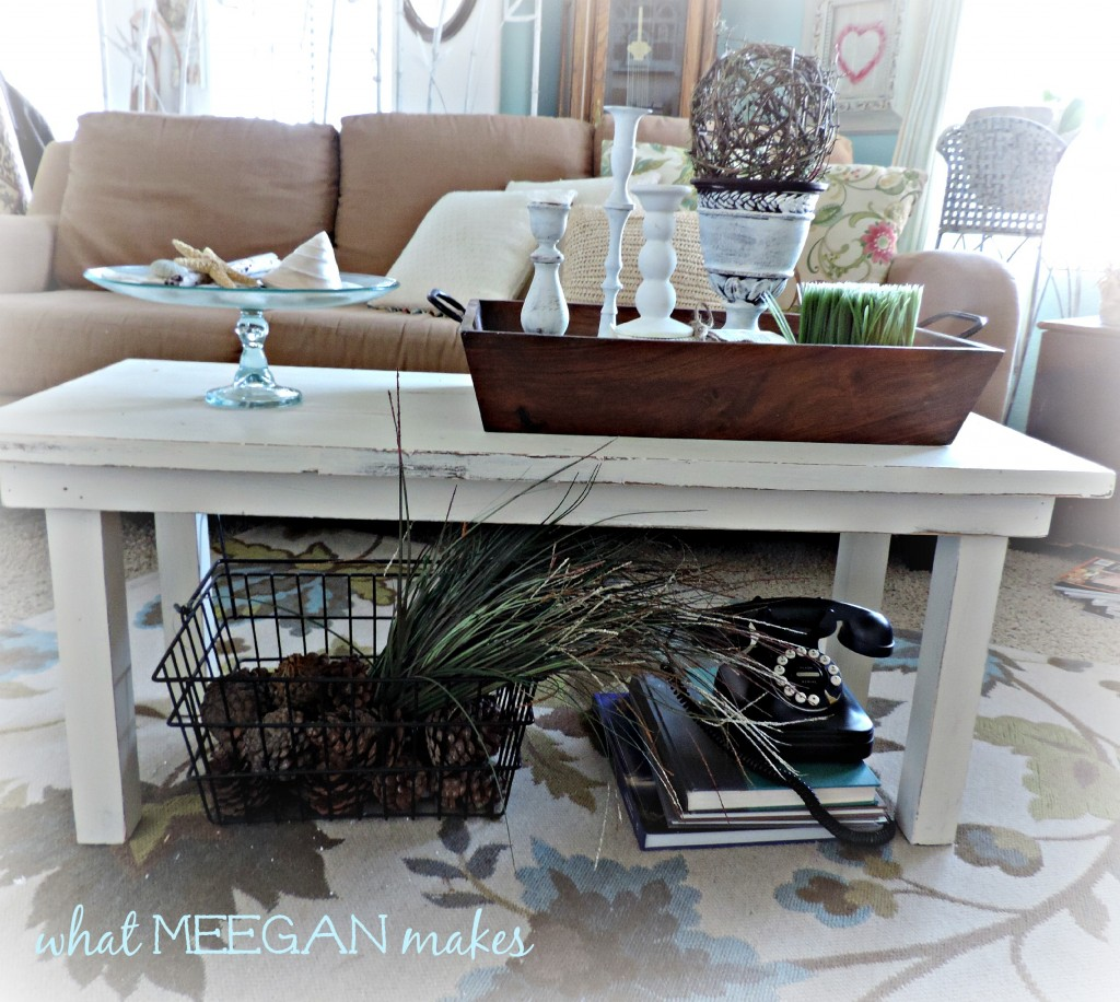 Stenciled Floral Coffee Table