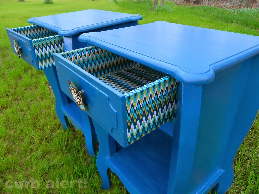 Blue End Tables