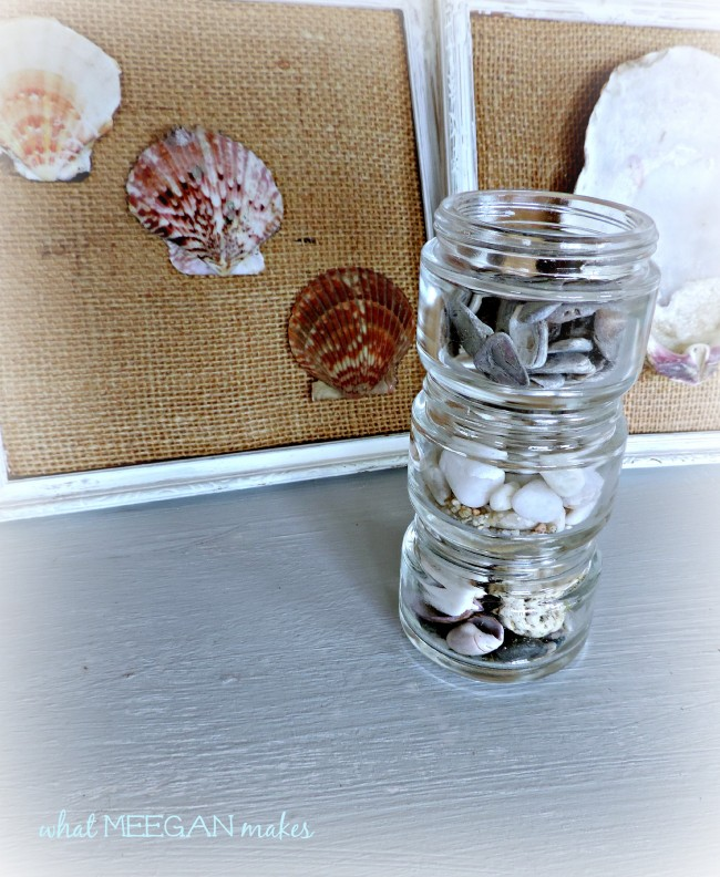 Stacked Cosmetic Shell-Filled Jars