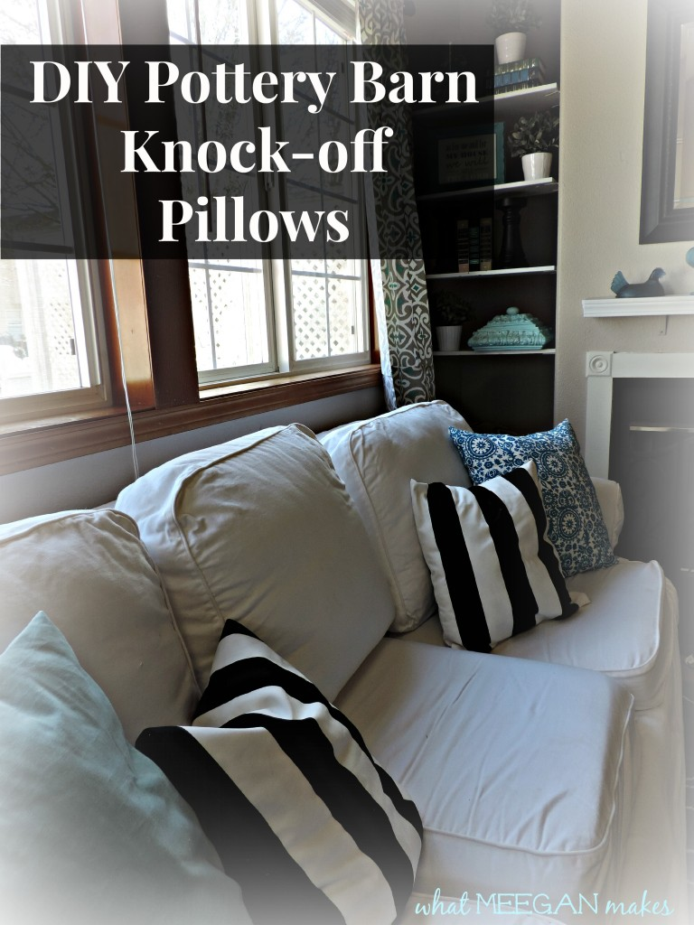 DIY Pottery Barn Knock-off Pillows